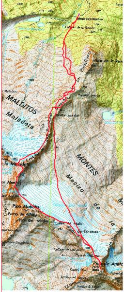 Mapa Maladeta - Aneto