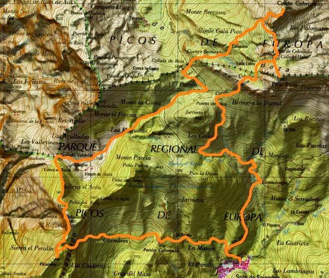 Map Canto Cabronero